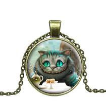 Collar Vintage Alicia País Maravillas Gato Alice Wonderland