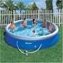 Piscina Bestway Fast Set 10.179l Azul + Filtro 110v Vinil
