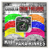 Calcomanias / Etiquetas Kit Rines Para Moto Y Carros