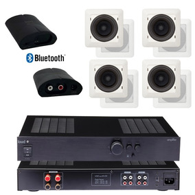 Kit Loud Som Ambiente Amplificador + Caixas + Bluetooth