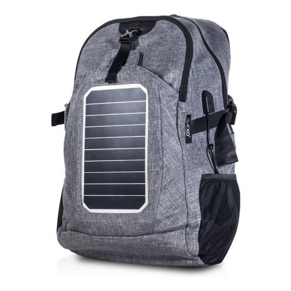 Mochila Solar Exo Para Carga Celulares Con Panel Solar