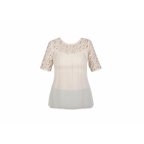 Blusa Bohemia Bordado Crochet Encaje Moda Nacioanl