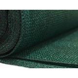 Tela Tejido Media Sombra 2,10 X 50 Mts Verde/negro Uv 70 %