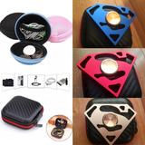 Funda Protectora Para Audifonos 2 Estuche + Spinner Superman