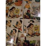 Lote 21 Calcos Autoadhesivos Antiguos - Imágenes Infantiles