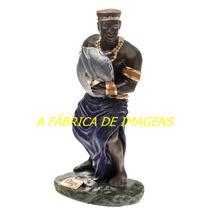 Combo 4 Orixa Estatua Ogum Iansa Xango Oxum Imagem 23cm