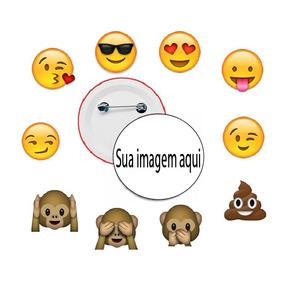 Botton Personalizado Broche Boton Whatsapp Emoji 2,5 E 3,5cm