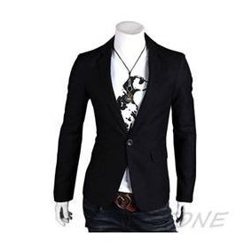 Blazer Negro Hombre Slim Fit Tallas: S,m,l Y Xl