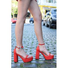 Sandalias Mujer Zapatillas Zapato Vestidos Fiesta Cuero Taco