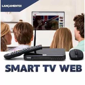 Conversor Digital Smart Tv Web + Antena Uhf C/ Cabo