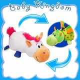 Unicornio Dragon Peluche Doble Animalito Flipazoo Baby Nuevo