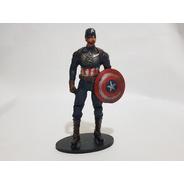 Miniatura Boneco Estátua Capitão América 18,5cm 182gr
