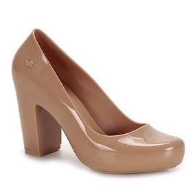 Sapato Feminino Salto Zaxy Fever Caramelo