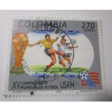 Campeonato Mundial Futbol Usa 94 Colombia Estampilla L13