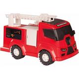 Aqui Miniatura Caminhão Bombeiro Esguicha Agua Heroi Do Fogo