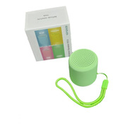 Caixa Som Bluetooth Tws Silicone Mini Speaker 3w Verde