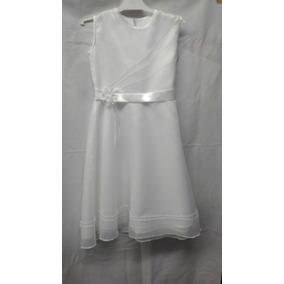 Vestido Comunion Sin Manga Blanco