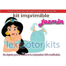 Kit Imprimible Candy Bar Princesa Jazmin Aladin
