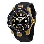Relógio X Games Masculino Xmpp1047 P2px Preto E Dourado