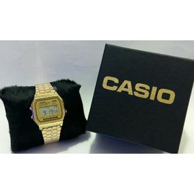 Relógio Cassio Aço Inoxidável Ótima Qualidade + Caixa
