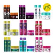 Kit Mix 12 Produtos Fashion Shampoo Condicionador Máscara