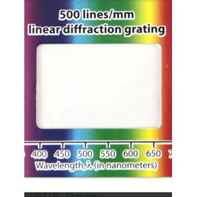 Kit(3) Rede Difração - 500linhas, 1000linhas E 1350 Linhas.