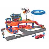 City Garage Playset 2 Pisos 4 Autos - Welly - Pista De Autos