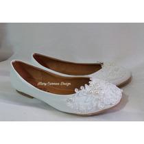Hermosos Zapatos Flats Novia Primera Comunión Estilo Vintage