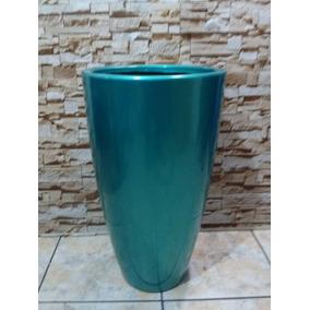 Vaso De Fibra Grande Decorativo Estilo Ceramica Vietnamita