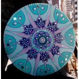 Cuadros Mandalas Pintados A Mano Con Piedras 60cm Diametro
