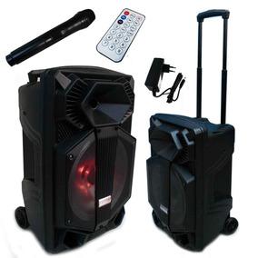 Caixa Som Amplificada Bluetooth Bivolt Led Rádio 200w Mp3