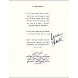 Lauren Bacall - Cita Escrita Con Membrete Firmada