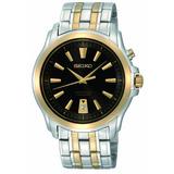 Seiko Hombres Snq120 Anillo De Oro Y Plata Con Reloj Dial N