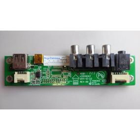 Placa Lateral Usb Av Tv Lcd E168066 32d06