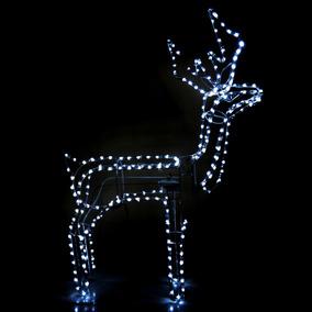 Rena Grande Com Movimento De Led Branco Decoracao De Natal