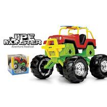 Brinquedo Jeep Monster Com Suspensão E Pneus De Borracha