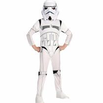 Fantasia Stormtrooper Infantil Star Wars Longa + Brinde