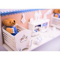 Porta Maternidade Cenário Com Luz De Led. Modelo Gemeos