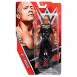 Muñeco Articulado Wwe The Rock Mattel 20 Cm