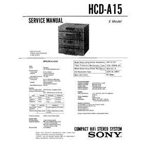 Lbt-a15 / Hcd-a15 Manual De Servicio
