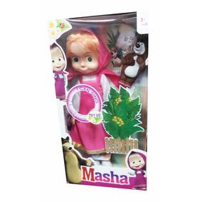 Muñeca Masha Y El Oso 32cm Con Sonido Juguete Niña