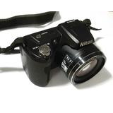 Camara Semiprofesional Nikon L110, 12.1 Mpx, 15x, Hd