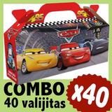 Cars Cajita Valijita Souvenir Combo Cumpleaños Infantil X 40