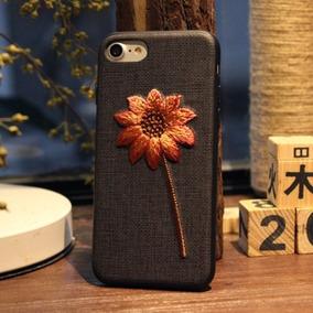 Para Iphone 6 Plus 6s Retro Fashion Embroidery Flower Plant