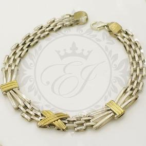 Pulseras Plata Oro Mujer Panther Eslabon Moño Oferta Mamá
