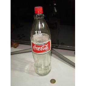 Botella Coca Cola Vidrio Sin Líquido 1 1/4 De Litro