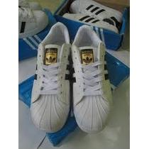 Zapatillas Adidas Super Star Logo Dorado
