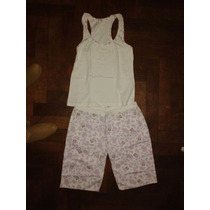 Liquidación Pijama Verano! Capri Y Musculosa Nuevo Sin Uso