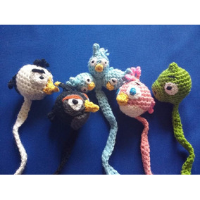 Separadores Tejidos A Mano: Angry Birds (5 Piezas) Ab-01