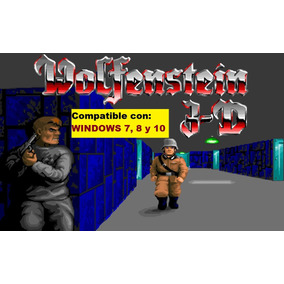Wolfenstein 3d - Juego Para Pc Windows 7, 8 ,10 / Dos